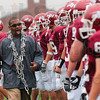Tribune-Star/Joseph C. Garza<br /> Now hear this: Rose-Hulman assistant coach Ethan Tyler tries to pump up the team before the start of the Engineers' game against DePauw Saturday in Greencastle.