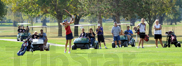 Sectional gallery: Rachel Welker hits a shot on the ninth hole at Forest Park Satuday afternoon during sectioal play.