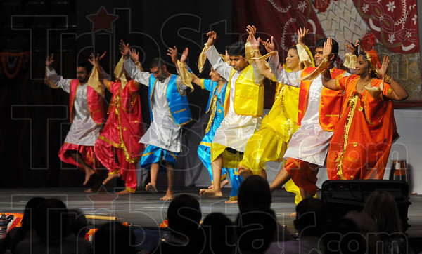 Bangra dance: Dancers participate in the Bangra Dance during the Taste of India at Hulman Center Saturday.