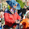 New sheriff in town: A clown sheriff makes balloon toys for those in attendance at the Terre Haute Children's Museum Saturday morning.