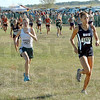 Strong start: North's Tapring Goatee leads the field down the starting straightaway Saturday morning. She faded in the late stages of the event to finish 7th.