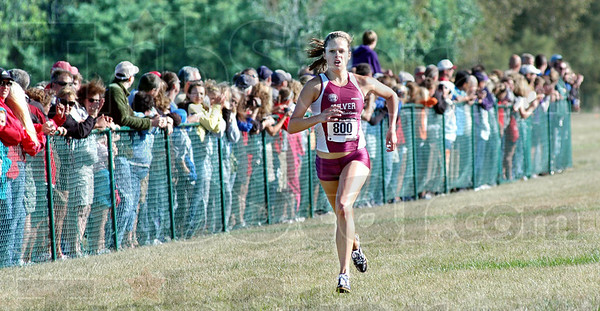 Girl's Champ: Culver's Waverly Neer heads for the finish line to win the State Preview meet Saturday afternoon. Her time was 18:43.4.