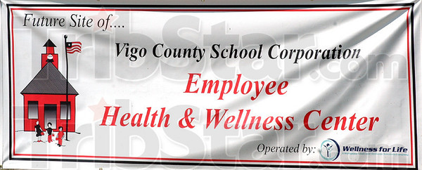 Center opening: Detail photo of sign for new Health and Wellness Center.