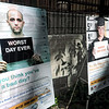 Bad day: Detail of posters for the new Sober Ride campaign.