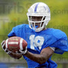 Receptive: ISU wide receiver John Goodlett snares a pass in practice Wednesday.
