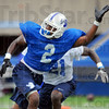 I'm open: Sycamore wide reciever Leonard Riston calls for teh ball after working intot eh open.