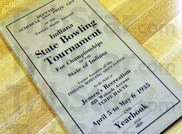 Memorabilia: Gordon Geckler's collection of bowling memorabilia includes this 1935 State Bowling Tournament  schedule.