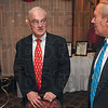 Tribune-Star/Joseph C. Garza<br /> TREES mentor: Dr. Burnell Fischer, guest speaker of the TREES, Inc. banquet, talks with Terre Haute City Planner Pat Martin before the start of the event Tuesday at the Holiday Inn.