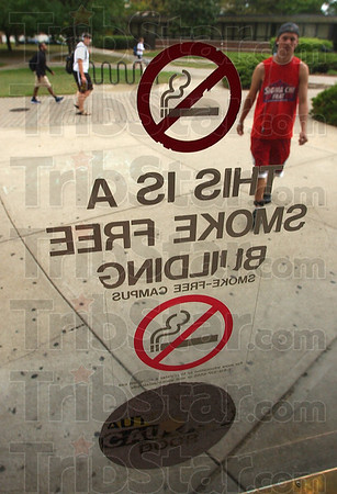 Under scrutiny: The Indiana State University Board of Trustees  will consider establishing a $50 fine per occurrence for individuals who violate the universityÕs smoking policy.