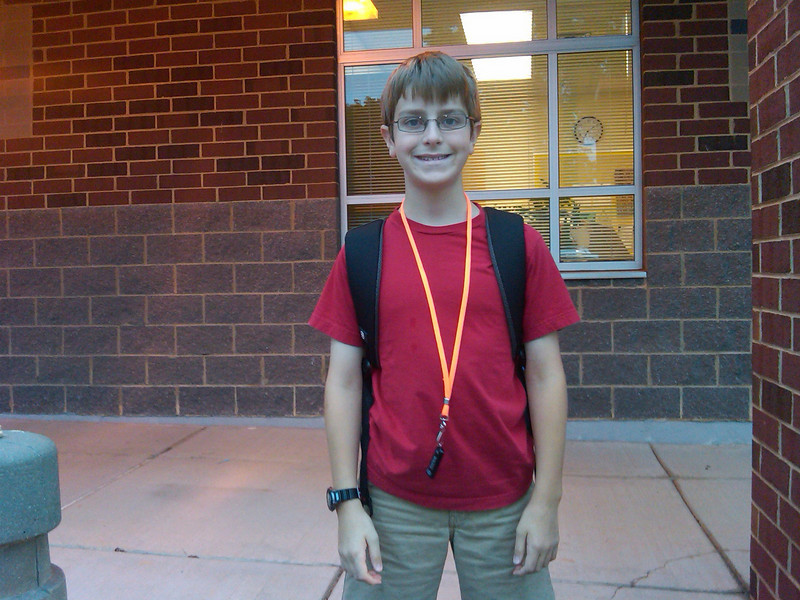 Anthony's first day of Fifth Grade