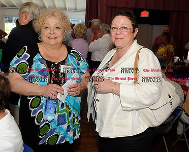 8/31/2010 Mike Orazzi | Staff Louise Demars and Susan Moreau at the Crocodile Club, the oldest eating club in the country, which was started in 1875 by the Norton family ancestor and former state lawmaker Gad Norton, who founded Lake Compounce.