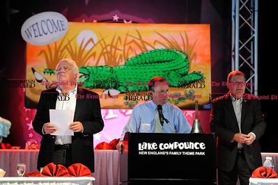 8/31/2010 Mike Orazzi | Staff Ray Dunaway, Ed Krawiecki Jr.  and Bristol Mayor Art Ward while at the Crocodile Club, at Lake Compounce on Tuesday.