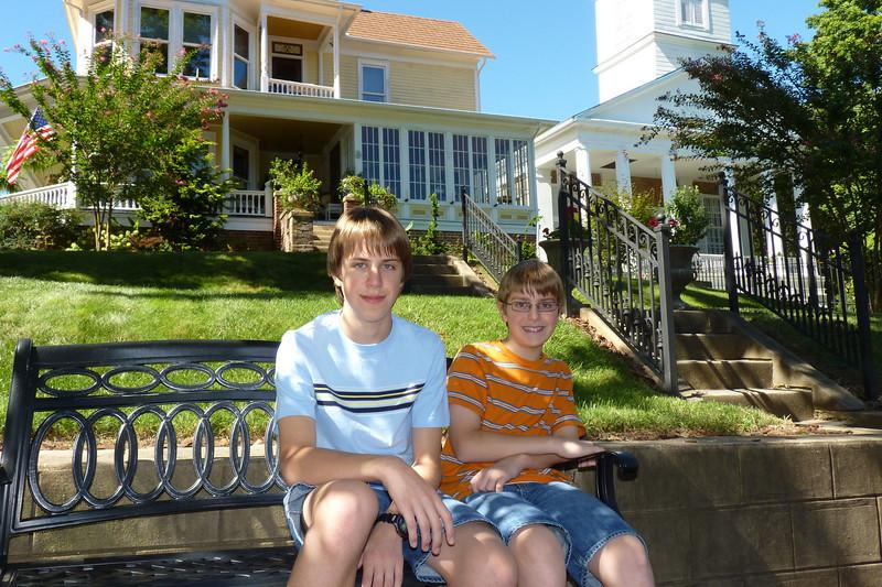 Anthony & Jacob - downtown Jonesborough, TN