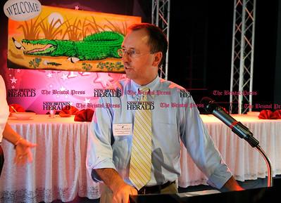 8/31/2010 Mike Orazzi | Staff Edward C. Krawiecki Jr.  while at the Crocodile Club, at Lake Compounce on Tuesday.