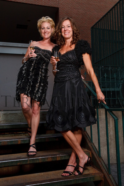 (Denver, Colorado, Sept. 2, 2010)<br /> Tina Lovelace and Dianne DeLongchamps in clothing from Mariel.  Last Chance to Wear White party, hosted by the Marquee Club, at Crú wine bar in Denver, Colorado, on Thursday, Sept. 2, 2010.<br /> STEVE PETERSON