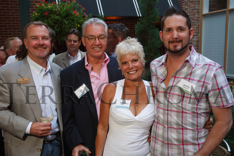 (Denver, Colorado, Sept. 2, 2010)<br /> David Zupancic, Rob and Paula Grey, and Jeremy Anderson.  Last Chance to Wear White party, hosted by the Marquee Club, at Crú wine bar in Denver, Colorado, on Thursday, Sept. 2, 2010.<br /> STEVE PETERSON