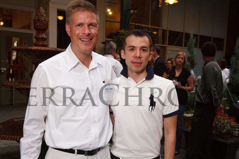 (Denver, Colorado, Sept. 2, 2010)<br /> Will La Bahn and Baltazar Solano Pineda.  Last Chance to Wear White party, hosted by the Marquee Club, at Crú wine bar in Denver, Colorado, on Thursday, Sept. 2, 2010.<br /> STEVE PETERSON