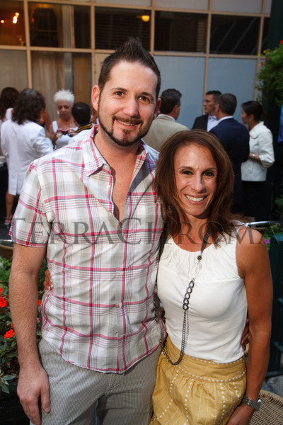 (Denver, Colorado, Sept. 2, 2010)<br /> Jeremy Anderson and Carmel Koeltzow.  Last Chance to Wear White party, hosted by the Marquee Club, at Crú wine bar in Denver, Colorado, on Thursday, Sept. 2, 2010.<br /> STEVE PETERSON