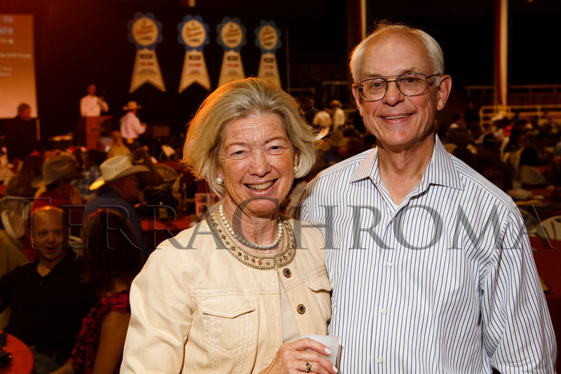 (Denver, Colorado, Sept. 9, 2010)<br /> Judy and Newell Grant.  The 2010 Hide Party, recognizing the winning bidders of the 2010 Auction of Junior Livestock Champions, at the National Western Stadium Arena in Denver, Colorado, on Thursday, Sept. 9, 2010.<br /> STEVE PETERSON
