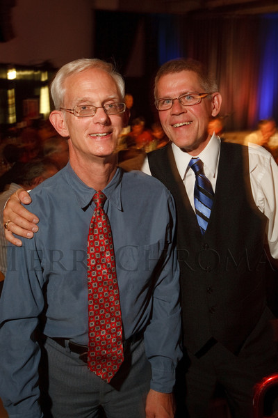 "(Broomfield, Colorado, Sept. 24, 2010)<br /> Dennis Schwed (one of the ARC Heroes of the Year) and Dan Timm.  ""Starfish and Dreams,"" a benefit for ARC Thrift Stores, at Rotors of the Rockies in Broomfield, Colorado, on Friday, Sept. 24, 2010.<br /> STEVE PETERSON"