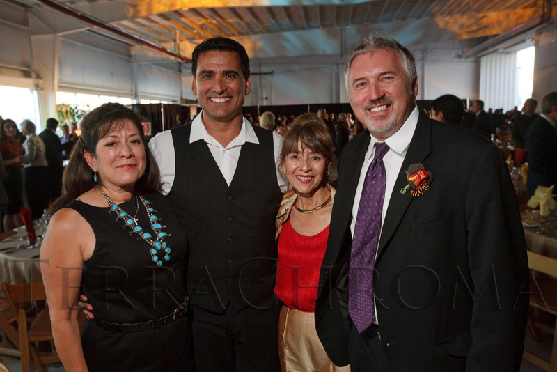 "(Broomfield, Colorado, Sept. 24, 2010)<br /> Pat Cortez, Jesse Ogas, Patty Baca, and Lloyd Lewis.  ""Starfish and Dreams,"" a benefit for ARC Thrift Stores, at Rotors of the Rockies in Broomfield, Colorado, on Friday, Sept. 24, 2010.<br /> STEVE PETERSON"