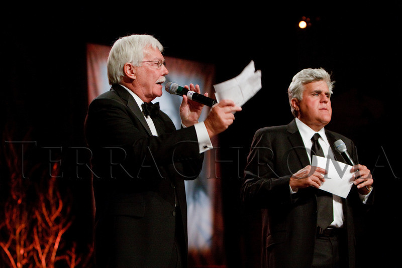 "(Denver, Colorado, Sept. 11, 2010)<br /> Gary Corbett and Jay Leno during live auction.  The Children's Hospital hosts ""Gala 2010--What Matters Most"" at the Hyatt Regency Denver at the Colorado Convention Center in Denver, Colorado, on Saturday, Sept. 11, 2010.<br /> STEVE PETERSON"