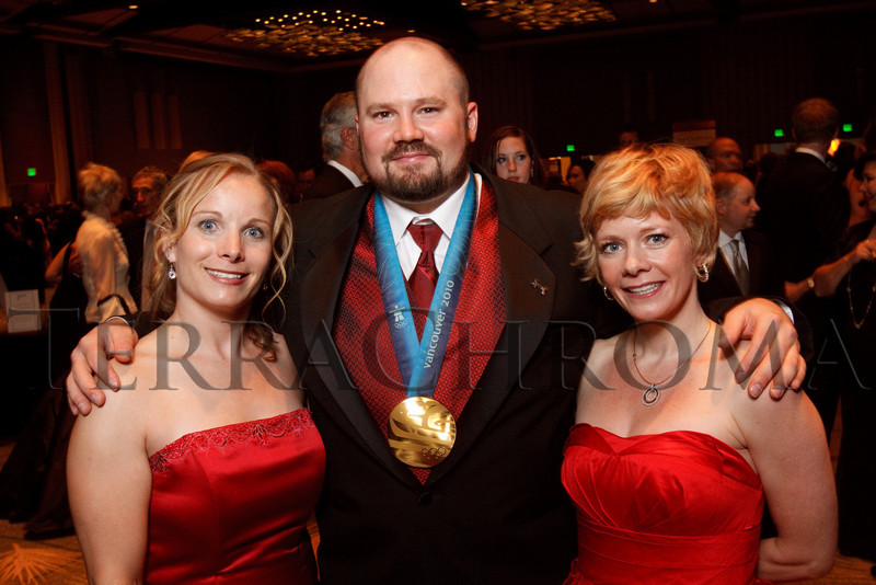 "(Denver, Colorado, Sept. 11, 2010)<br /> Hannah Pennington, Steve Holcomb, and Michelle Roark.  The Children's Hospital hosts ""Gala 2010--What Matters Most"" at the Hyatt Regency Denver at the Colorado Convention Center in Denver, Colorado, on Saturday, Sept. 11, 2010.<br /> STEVE PETERSON"