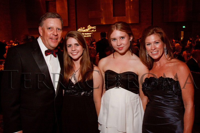 """(Denver, Colorado, Sept. 11, 2010)<br /> The Culshaws:  Peter, Alexa (18), Kelly (14), and Kim.  The Children's Hospital hosts """"Gala 2010--What Matters Most"""" at the Hyatt Regency Denver at the Colorado Convention Center in Denver, Colorado, on Saturday, Sept. 11, 2010.<br /> STEVE PETERSON"""