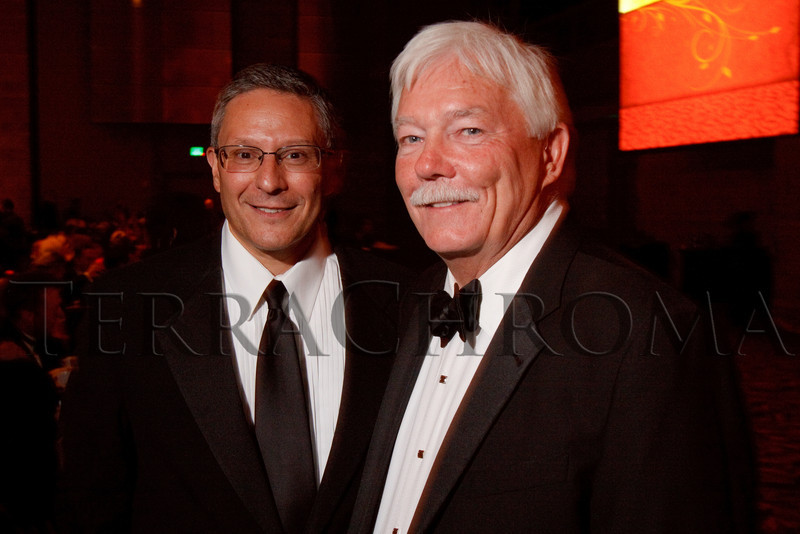 "(Denver, Colorado, Sept. 11, 2010)<br /> Jim Shmerling and Gary Corbett.  The Children's Hospital hosts ""Gala 2010--What Matters Most"" at the Hyatt Regency Denver at the Colorado Convention Center in Denver, Colorado, on Saturday, Sept. 11, 2010.<br /> STEVE PETERSON"