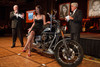 "(Denver, Colorado, Sept. 11, 2010)<br /> Jay Leno (right) picked Teresa Hanson out of the crowd and lightly persuaded her to help Gary Corbett with live auction bidding on a Harley Davidson motorcycle.  The Children's Hospital hosts ""Gala 2010--What Matters Most"" at the Hyatt Regency Denver at the Colorado Convention Center in Denver, Colorado, on Saturday, Sept. 11, 2010.<br /> STEVE PETERSON"