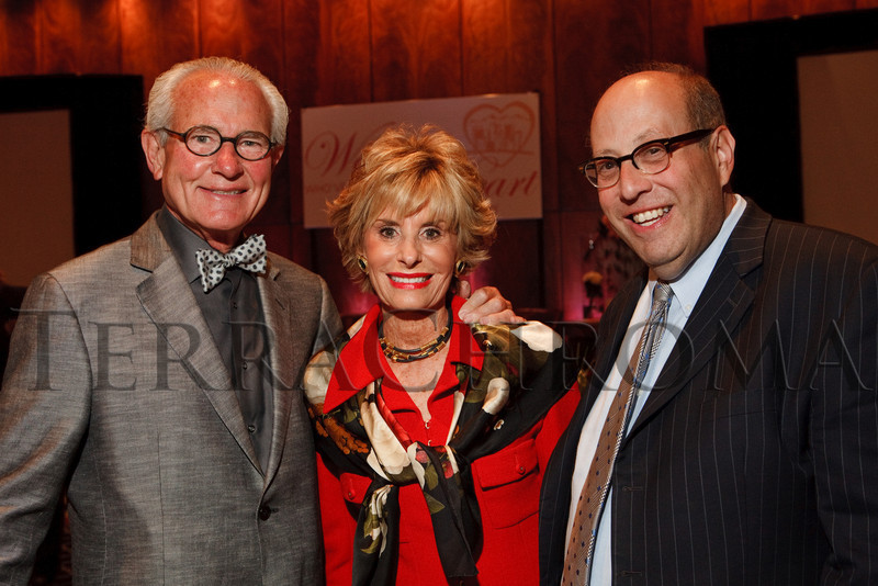 """(Denver, Colorado, Sept. 16, 2010)<br /> Barry and Arlene Hirschfeld with Andy Levy.  Denver Rescue Mission High Tea, themed """"Women Who've Changed the Heart of the City,"""" at the Brown Palace Hotel in Denver, Colorado, on Thursday, Sept. 16, 2010.<br /> STEVE PETERSON"""