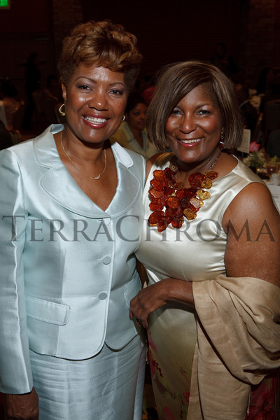 (Denver, Colorado, Sept. 18, 2010)<br /> Sandra Johnson Jones and Elenora Crichlow.  The First Annual M.O.D.E.L. Awards Luncheon, hosted by the Epsilon Nu Omega Chapter of the Alpha Kappa Alpha Sorority, Inc., and the Epsilon Nu Omega Endowment Fund, at the Denver Marriott Tech Center in Denver, Colorado, on Saturday, Sept. 18, 2010.<br /> STEVE PETERSON