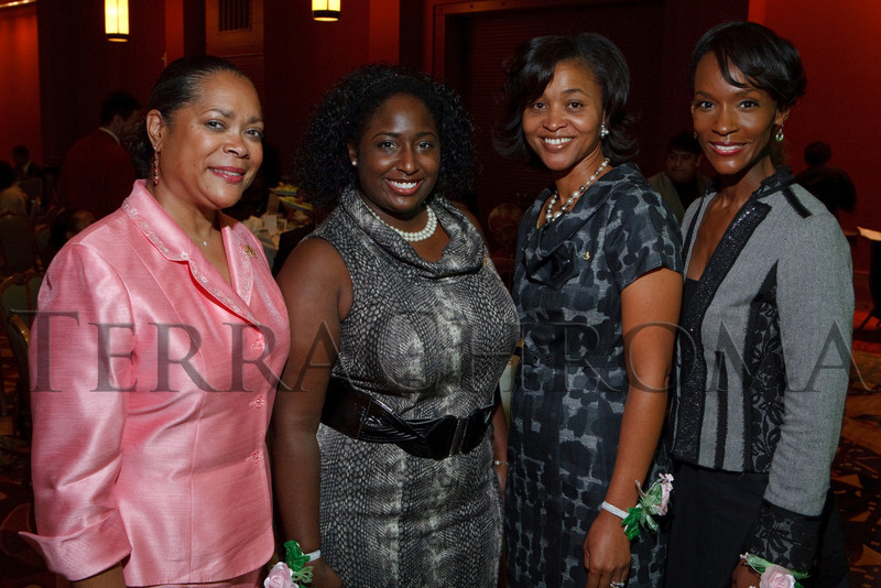 (Denver, Colorado, Sept. 18, 2010)<br /> Judith Alexander, Chalya Freeman, Erin Brown, and TaRhonda Thomas (emcee).  The First Annual M.O.D.E.L. Awards Luncheon, hosted by the Epsilon Nu Omega Chapter of the Alpha Kappa Alpha Sorority, Inc., and the Epsilon Nu Omega Endowment Fund, at the Denver Marriott Tech Center in Denver, Colorado, on Saturday, Sept. 18, 2010.<br /> STEVE PETERSON