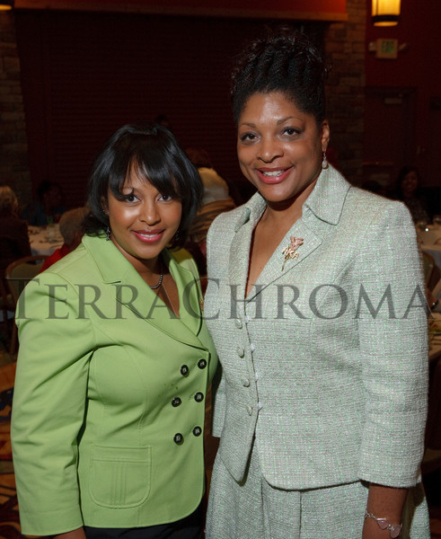 (Denver, Colorado, Sept. 18, 2010)<br /> Christine Fontenot and Wanda Swan.  The First Annual M.O.D.E.L. Awards Luncheon, hosted by the Epsilon Nu Omega Chapter of the Alpha Kappa Alpha Sorority, Inc., and the Epsilon Nu Omega Endowment Fund, at the Denver Marriott Tech Center in Denver, Colorado, on Saturday, Sept. 18, 2010.<br /> STEVE PETERSON