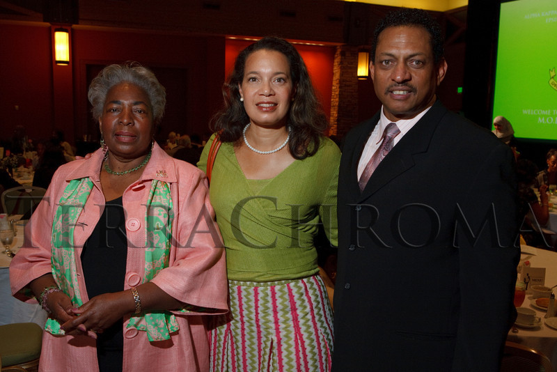 (Denver, Colorado, Sept. 18, 2010)<br /> Terry Nelson, Nina Henderson Moore, and Lawrence Alexander.  The First Annual M.O.D.E.L. Awards Luncheon, hosted by the Epsilon Nu Omega Chapter of the Alpha Kappa Alpha Sorority, Inc., and the Epsilon Nu Omega Endowment Fund, at the Denver Marriott Tech Center in Denver, Colorado, on Saturday, Sept. 18, 2010.<br /> STEVE PETERSON