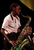 "(Denver, Colorado, Sept. 18, 2010)<br /> James Duckery (13) performs a number, ""See What I'm Sayin'?"" by Boney James, on tenor sax.  The First Annual M.O.D.E.L. Awards Luncheon, hosted by the Epsilon Nu Omega Chapter of the Alpha Kappa Alpha Sorority, Inc., and the Epsilon Nu Omega Endowment Fund, at the Denver Marriott Tech Center in Denver, Colorado, on Saturday, Sept. 18, 2010.<br /> STEVE PETERSON"