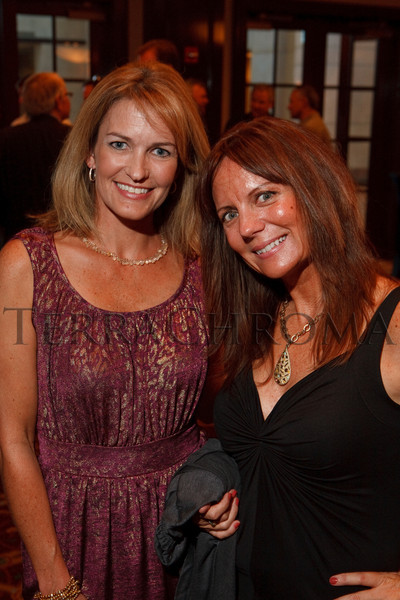 "(Broomfield, Colorado, Sept. 23, 2010)<br /> Jennifer Wegen and Robin Hiers, soon opening the Bittersweet Art Gallery in Louisville.  The ""5th Annual Dinner Royale,"" benefiting Greenhouse Scholars, at the Omni Interlocken Hotel and Rocky Mountain Metropolitan Airport in Broomfield, Colorado, on Thursday, Sept. 23, 2010.<br /> STEVE PETERSON"