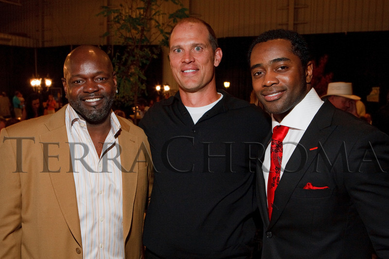"(Broomfield, Colorado, Sept. 23, 2010)<br /> Emmitt Smith, Pete Burridge (GS president and CEO), and Curtis Martin.  The ""5th Annual Dinner Royale,"" benefiting Greenhouse Scholars, at the Omni Interlocken Hotel and Rocky Mountain Metropolitan Airport in Broomfield, Colorado, on Thursday, Sept. 23, 2010.<br /> STEVE PETERSON"