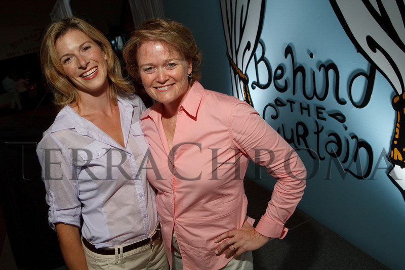 "(Denver, Colorado, Sept. 27, 2010)<br /> Barbara Gehring and Linda Klein.  ""Behind the Curtain,"" a benefit for the expansion of the Anschutz Cancer Pavilion, hosted by the University of Colorado Hospital Foundation, at Invesco Field at Mile High in Denver, Colorado, on Monday, Sept. 27, 2010.<br /> STEVE PETERSON"