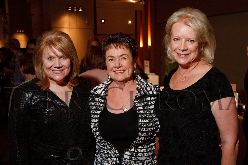 "(Denver, Colorado, Sept. 27, 2010)<br /> Angela Lieurance, Charlotte Travis, and Sharon Magness Blake.  ""Behind the Curtain,"" a benefit for the expansion of the Anschutz Cancer Pavilion, hosted by the University of Colorado Hospital Foundation, at Invesco Field at Mile High in Denver, Colorado, on Monday, Sept. 27, 2010.<br /> STEVE PETERSON"