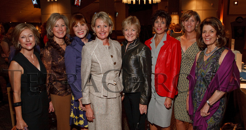 "(Denver, Colorado, Sept. 27, 2010)<br /> Dawn Wood, Debbie Davis, Kathy Finley, Patty McConaty, Ilga Tyler, Kay Malo, Tracy Zarlengo, and Marilyn Coors.  ""Behind the Curtain,"" a benefit for the expansion of the Anschutz Cancer Pavilion, hosted by the University of Colorado Hospital Foundation, at Invesco Field at Mile High in Denver, Colorado, on Monday, Sept. 27, 2010.<br /> STEVE PETERSON"