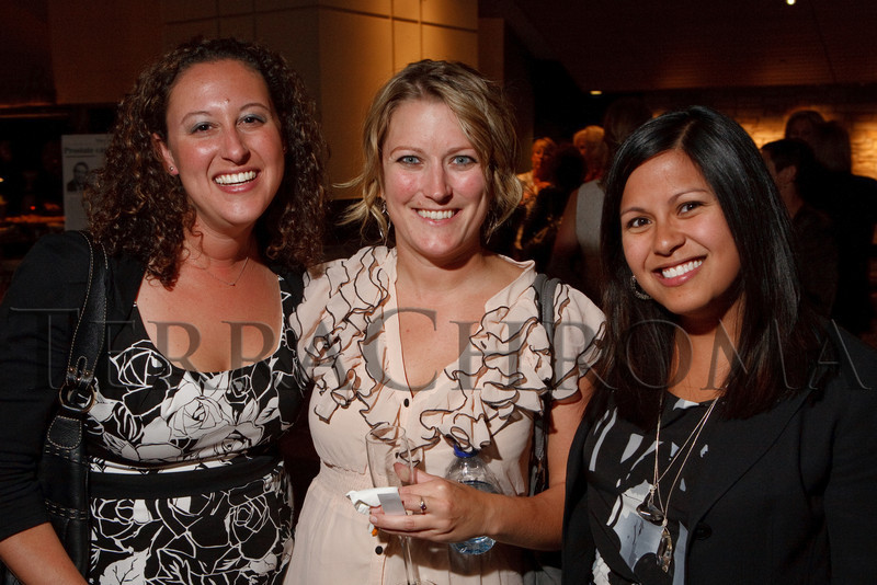"(Denver, Colorado, Sept. 27, 2010)<br /> Cori Plotkin, Sally Hallingstad, and Tara Tongco Rojas.  ""Behind the Curtain,"" a benefit for the expansion of the Anschutz Cancer Pavilion, hosted by the University of Colorado Hospital Foundation, at Invesco Field at Mile High in Denver, Colorado, on Monday, Sept. 27, 2010.<br /> STEVE PETERSON"