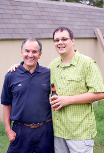 Father and son.  We could not have pulled off the party without the tremendous help from Mark's parents.