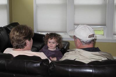 Grandma and Grandpa Kemp come for a visit
