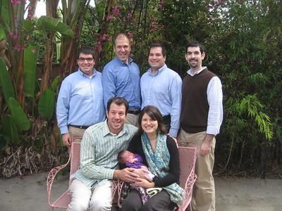 Uncle Jordan (l), Uncle David, Uncle Craig, and Uncle David