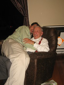 Even big kids need some cuddle time with dad