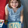 Shannon's and her cake. Party at Kensington Metropark.