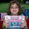 Shannon and the nail polish set I bought her. Party at Kensington Metropark.