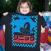 Shannon and the Sonic t-shirt I bought her at Hot Topic. Party at Kensington Metropark.