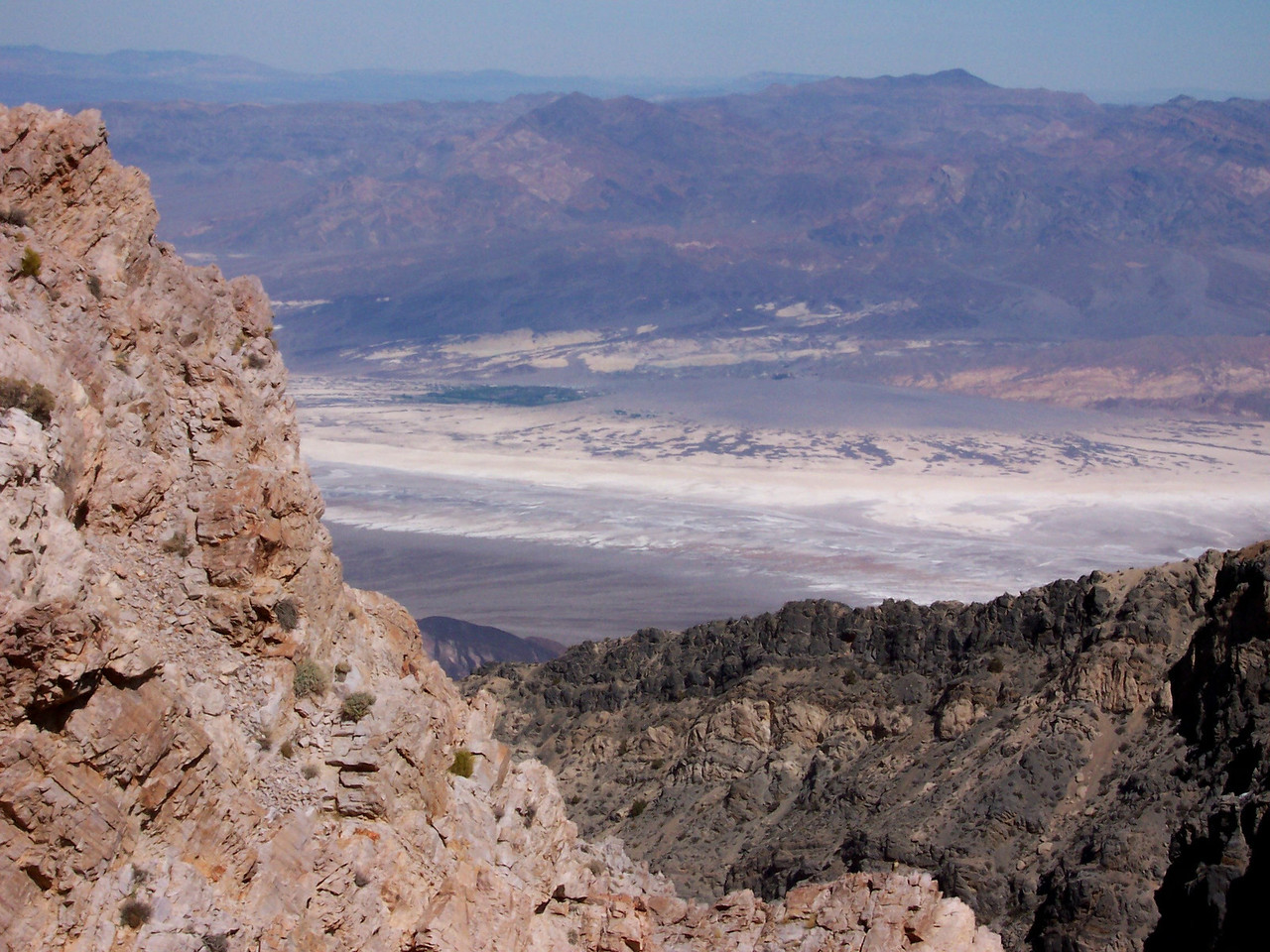 Furnace Creek is the patch of green in the valley below..